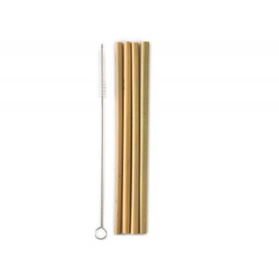 Bamboe rietjes + borstel