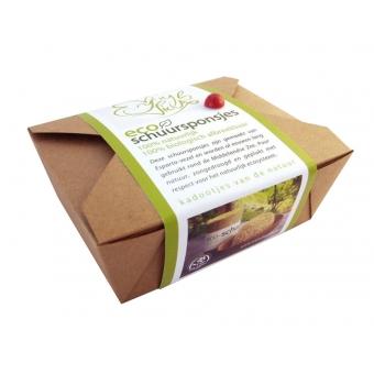 Eco schuursponsjes geschenkenset