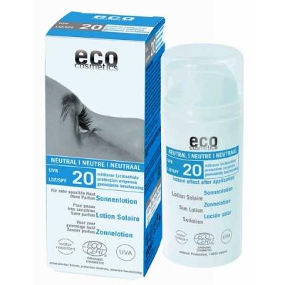 Bio zonnebrandcreme/lotion SPF20, zonder parfum en alcohol